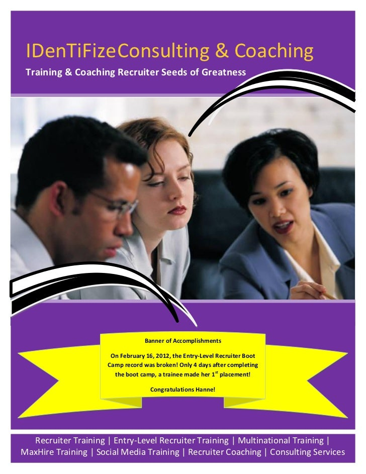 IDenTiFize Consulting & Coaching Training & Coaching Recruiter Seeds of Greatness                                  Banner ...