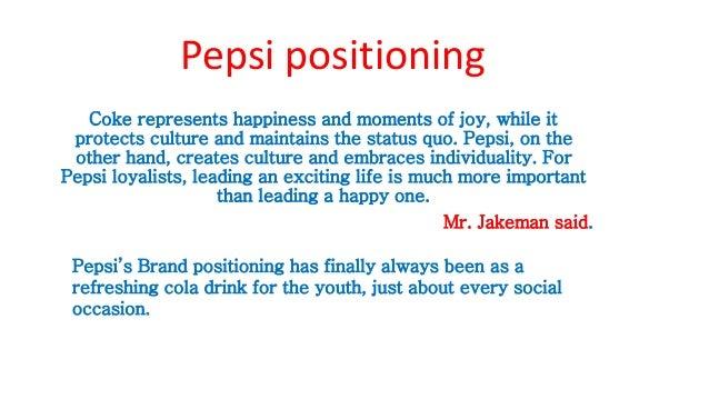 Pepsi positioning map