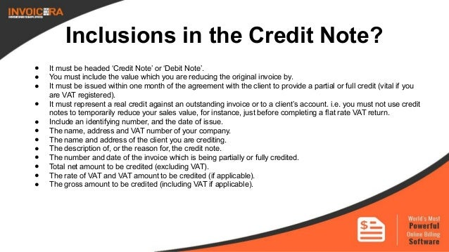 how to write a credit note