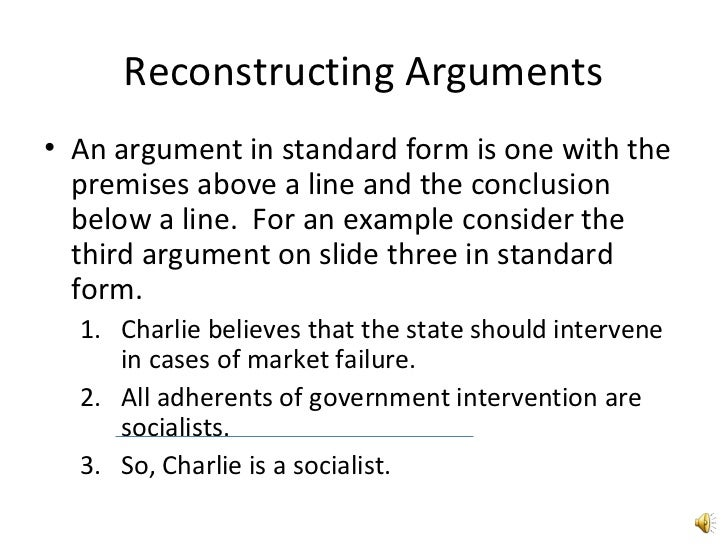 Identify and Reconstruct Arguments