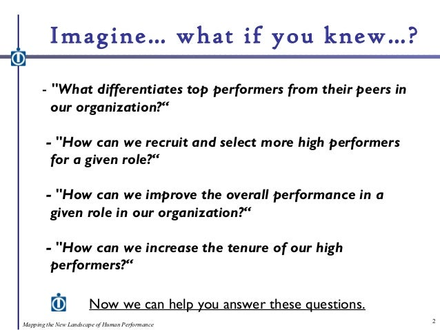 Improved Selection, Reduced Turnover: Identify and Retain Top Talent Slide 2
