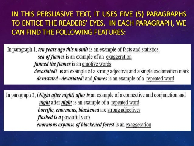 persuasive text examples year 5