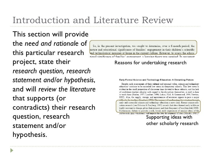 literature review in research study Chapter 6 evaluation research design: literature reviews the empirical research studies included in the review research design: literature reviews.