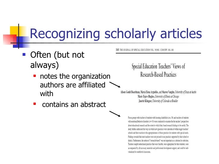 how to search for scholary articles