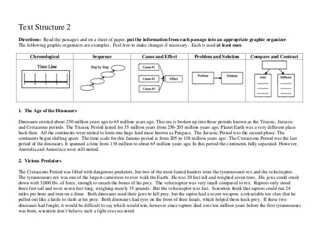 Identifying textstructure2 – Identifying Text Structure Worksheets