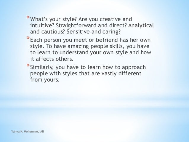 Identifying and adapting your unique gifts and style Slide 2