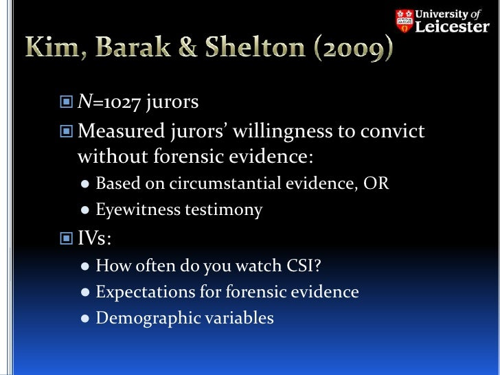 questionnaire on forensic science Forensic science questionnaire review question #1: in criminal investigation, there are four different types of evidence that can be part of the process and.