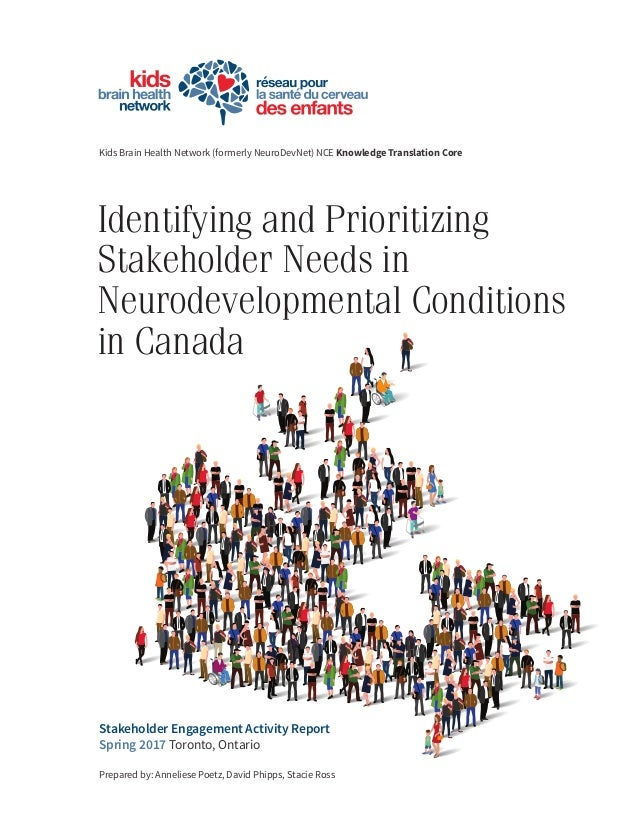 Identifying and Prioritizing Stakeholder Needs in Neurodevelopmental Conditions in Canada Kids Brain Health Network (forme...