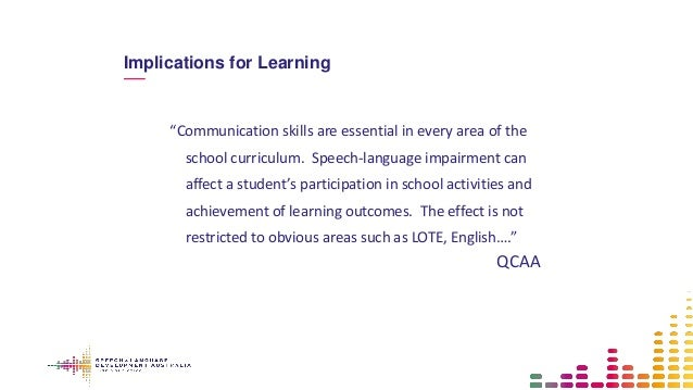 how does speech language and communication skills support learning