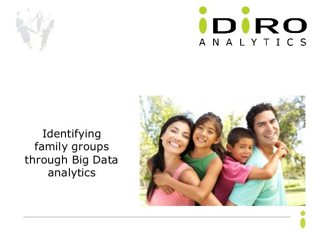 Confidential. Copyright © Idiro Analytics, all rights reserved. 1 Identifying family groups through Big Data analytics