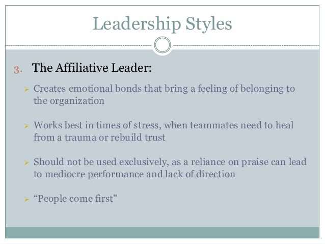 explain leadership styles with examples pdf