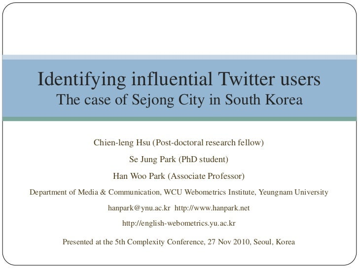 Chien-leng Hsu (Post-doctoral research fellow)<br />Se Jung Park (PhD student)<br />Han Woo Park (Associate Professor)<br ...