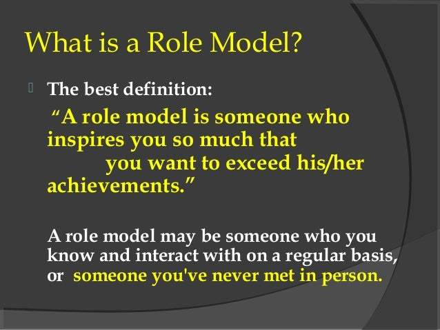 How Role Models Can Influence Lives
