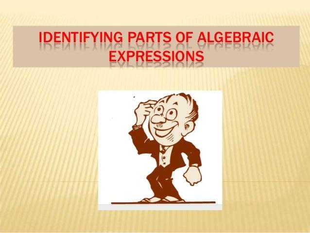 IDENTIFYING PARTS OF ALGEBRAIC EXPRESSIONS