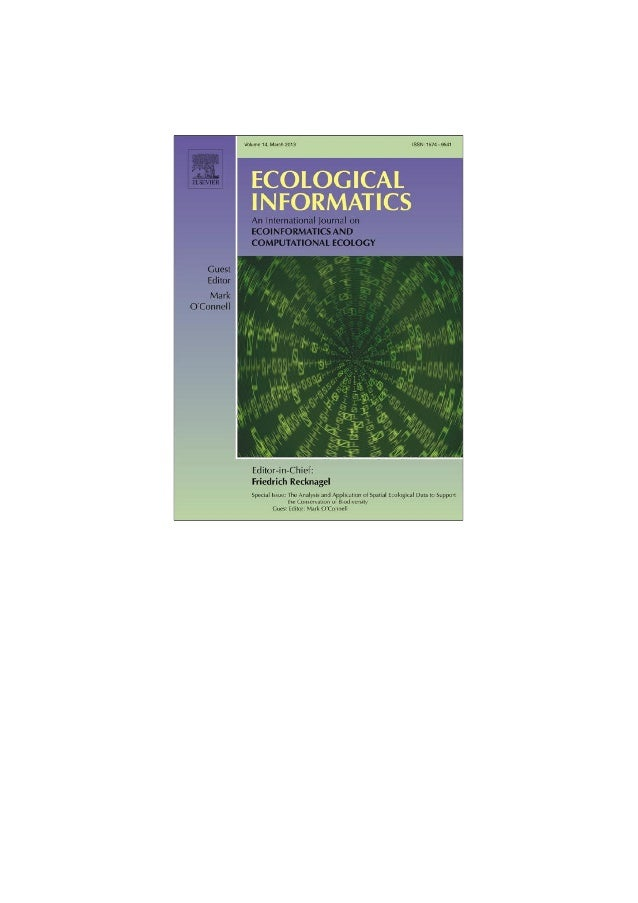 Authors personal copyEcological Informatics 14 (2013) 99–103Contents lists available at SciVerse ScienceDirectEcological I...