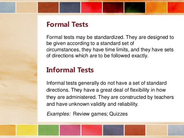 Formal Testing Examples on