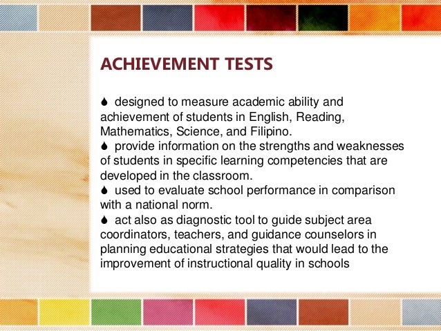 analysis of national achievement test of A guide for writing and improving achievement tests teresa l flateby, phd university of south florida tampa, fl 33620 item analysis resulting from test.