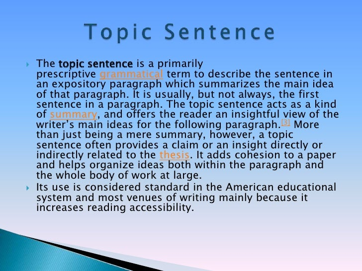 unity and coherence in essay
