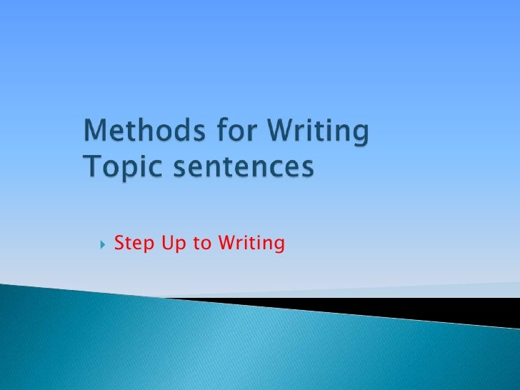 which methods are most helpful for identifying an essays topic
