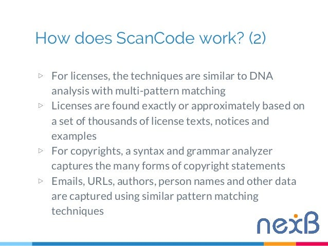 Identifying open source party software with ScanCode Toolkit