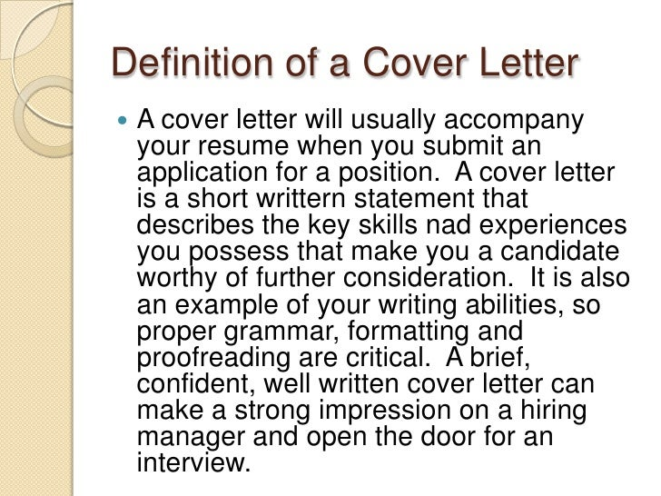 Identifying Your Skills, Cover Letters, And Followups