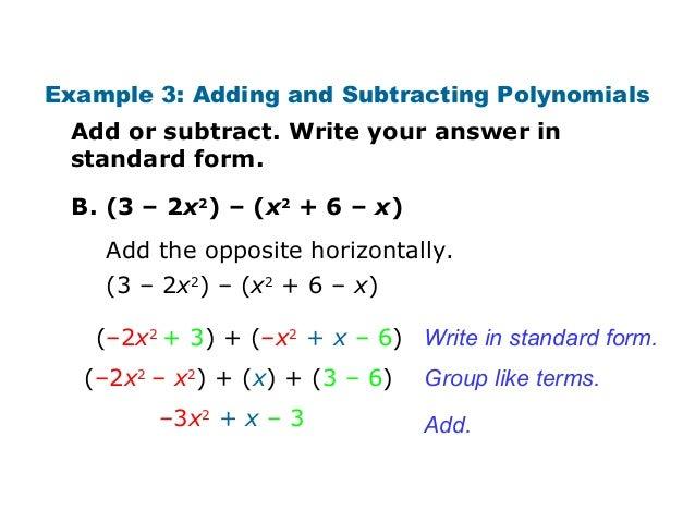 simplest form polynomial  Identify Polynomials ch10