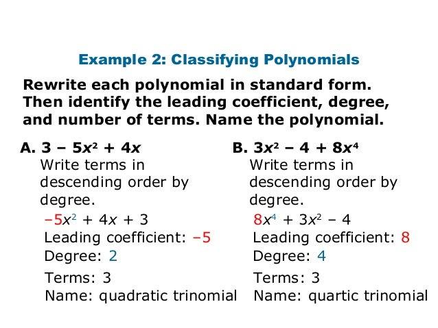 Polynomials intro