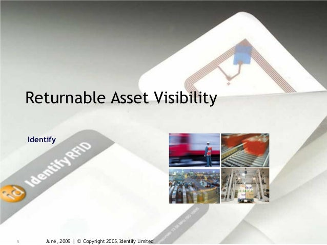 Returnable Asset Visibility    Identify1        June , 2009 | © Copyright 2005, Identify Limited