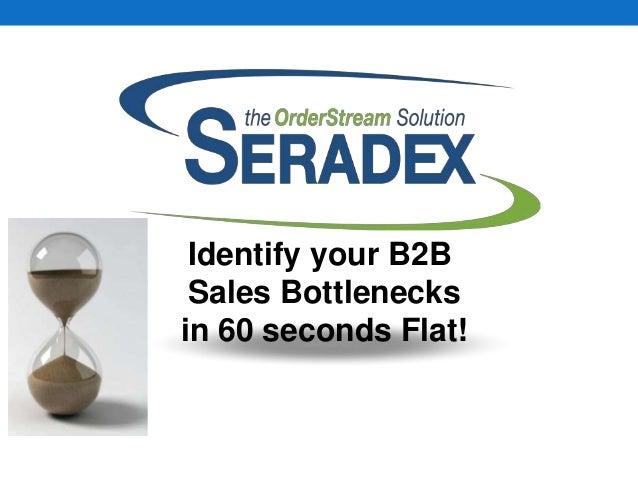 Identify your B2B Sales Bottlenecks in 60 seconds Flat!
