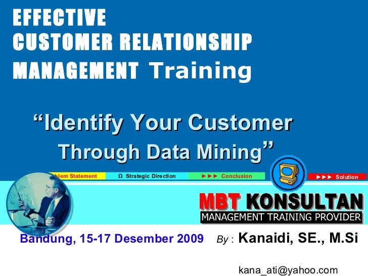 Identify your customer - CRM Training