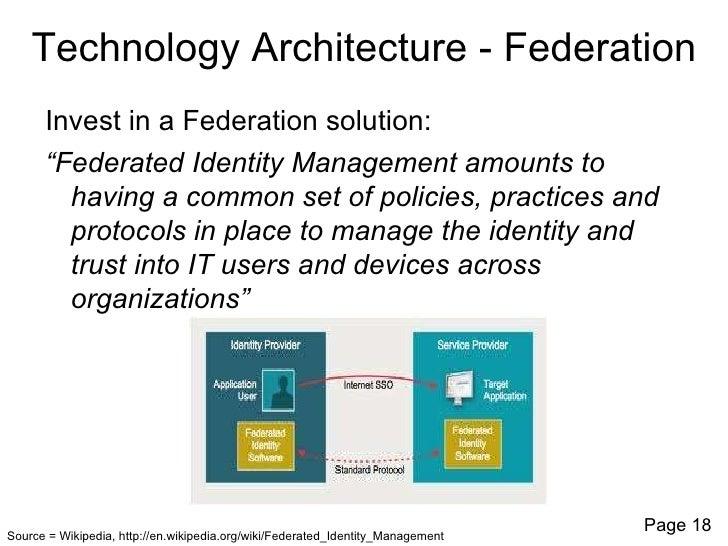 ... 18. Technology Architecture   Federation ...