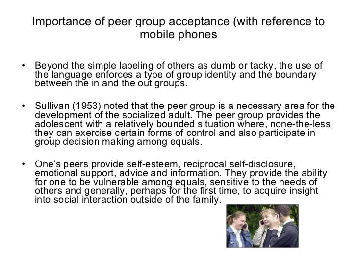 importance of peer groups