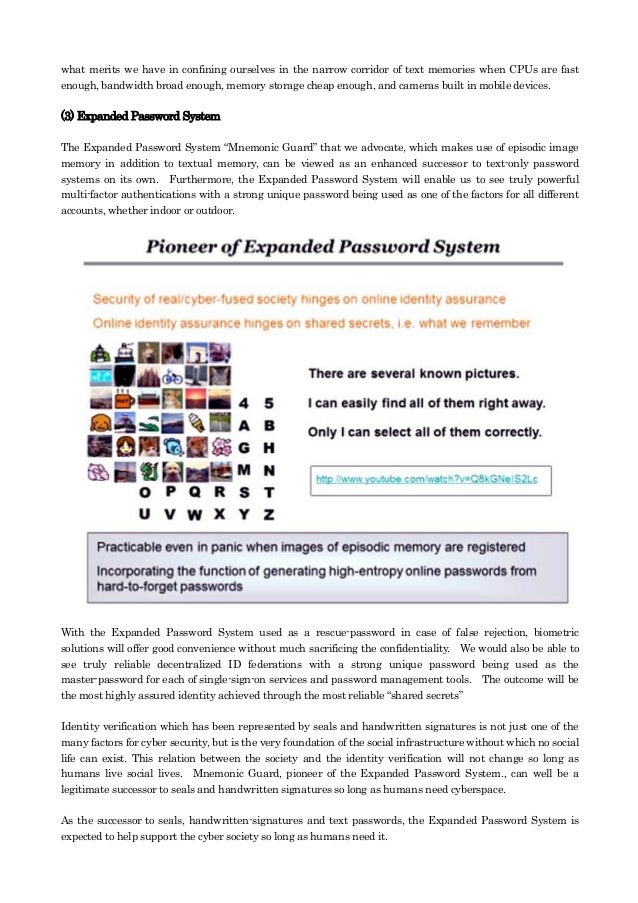 Identity assurance & expanded password system Slide 3