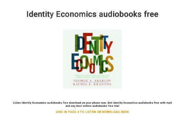 Identity Economics Audiobooks Free
