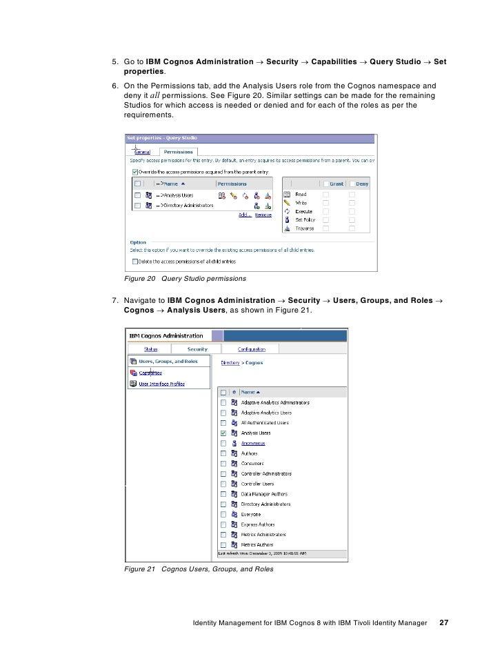 ... IBM Tivoli Identity Manager; 27.