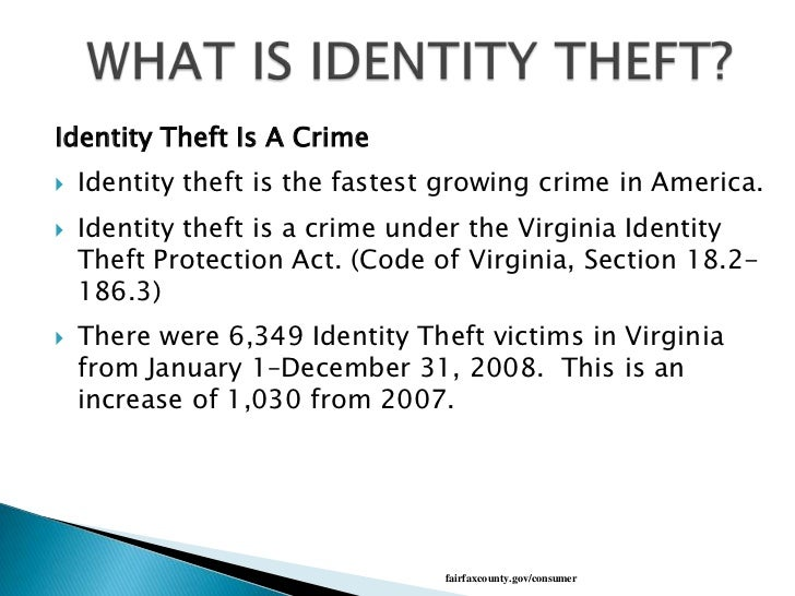 identity theft increasing or decreasing essay It seems that the consumers who are duped by id theft scams and phishing cons are those who don't bank all that frequently online -- and who don't recognize the false message for what it is the effect seems to be, the more you bank online, the less likely you are to be a victim of identity theft.