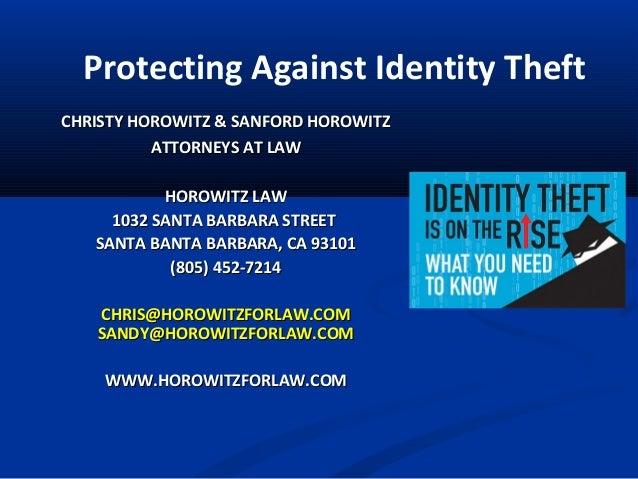 CHRISTY HOROWITZ & SANFORD HOROWITZCHRISTY HOROWITZ & SANFORD HOROWITZ ATTORNEYS AT LAWATTORNEYS AT LAW HOROWITZ LAWHOROWI...