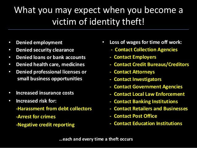 Identity Theft Awareness 101 Basics