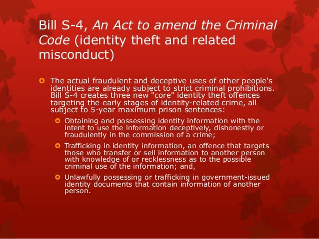 Identity Theft * Canada