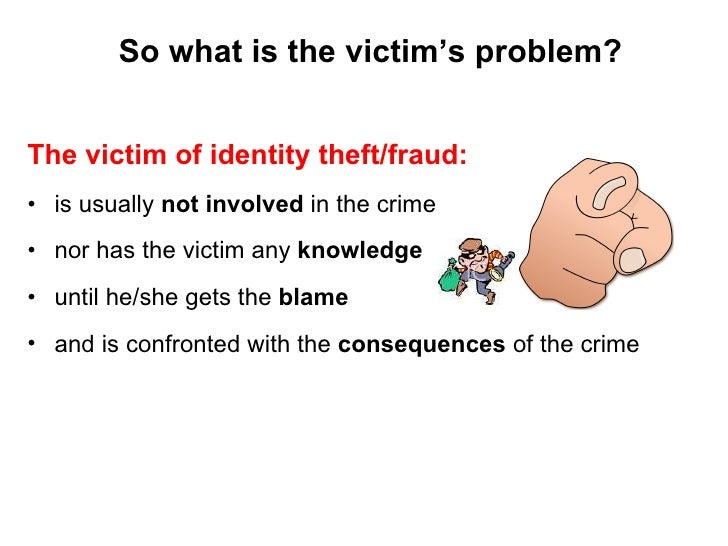 what is involved in identity theft The unfortunate truth of increased technology is that there is also an increase in cybercrime, more specifically identity theft the question is, what can you do to.
