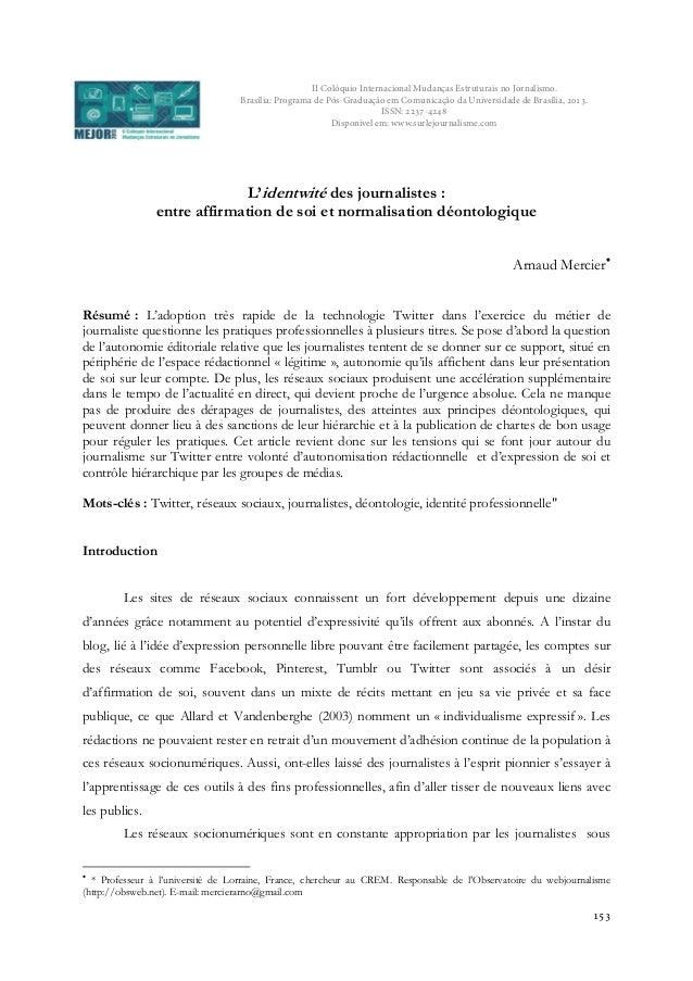 II Colóquio Internacional Mudanças Estruturais no Jornalismo. Brasília: Programa de Pós-Graduação em Comunicação da Univer...