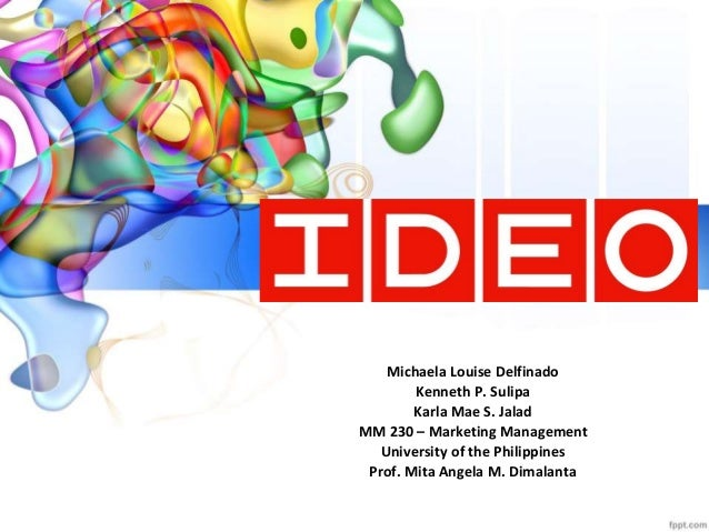 Ideo marketing for Ideo university
