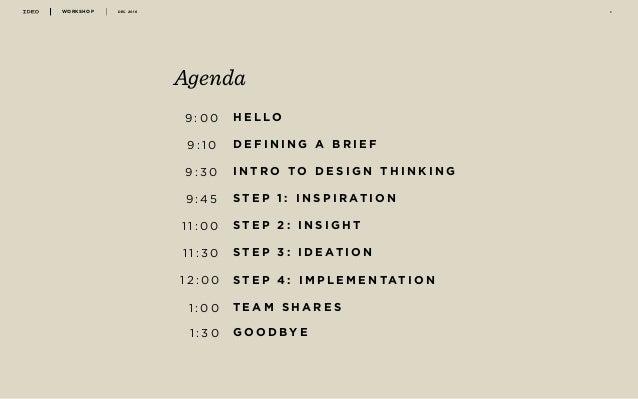 IDEO - Design thinking workshop 2016 Slide 2