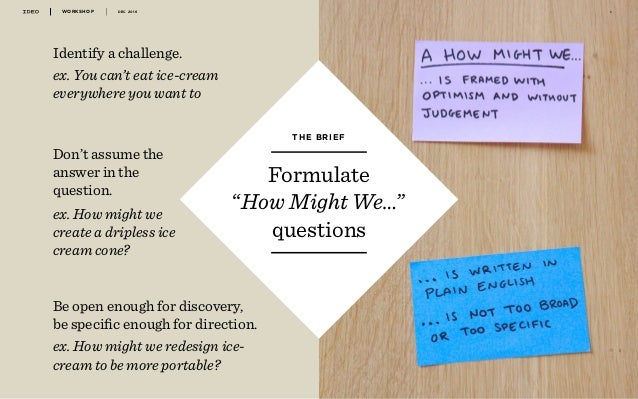 IDEO - Design thinking workshop 2016 Slide 3