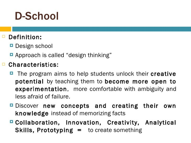 Innovative Classroom Definition : Ideo d school from b to