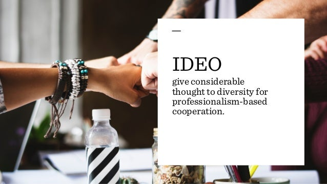 Ideo case study for Ideo products