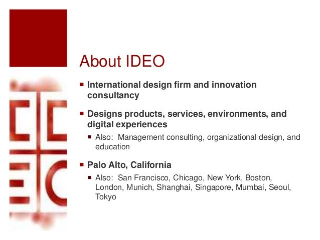 Ideo ii for Innovation consultancy london