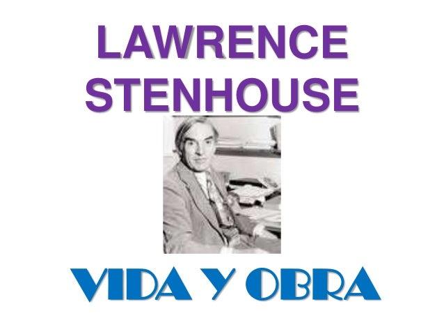 Lawrence Stenhouse Slide 2