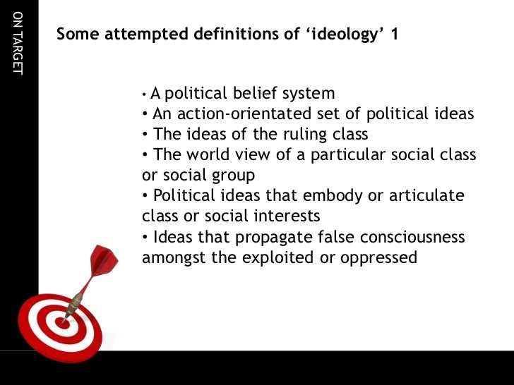 Definitions of political ideologies