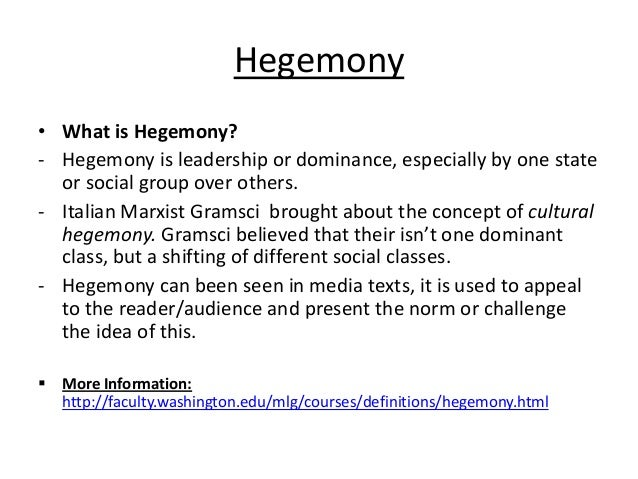Gramsci´S Concept of Hegemony Linked to Contemporary Italy Essay